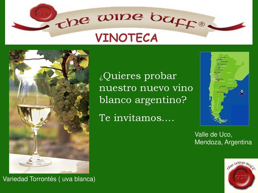 Web fotos del muro de the wine buff torrontes page 0