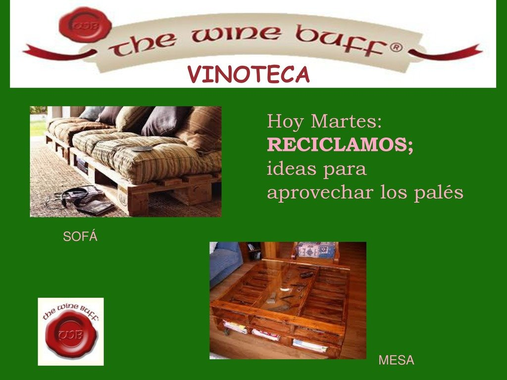 Web fotos del muro de the wine buff reciclaje pales 1 page 0 1