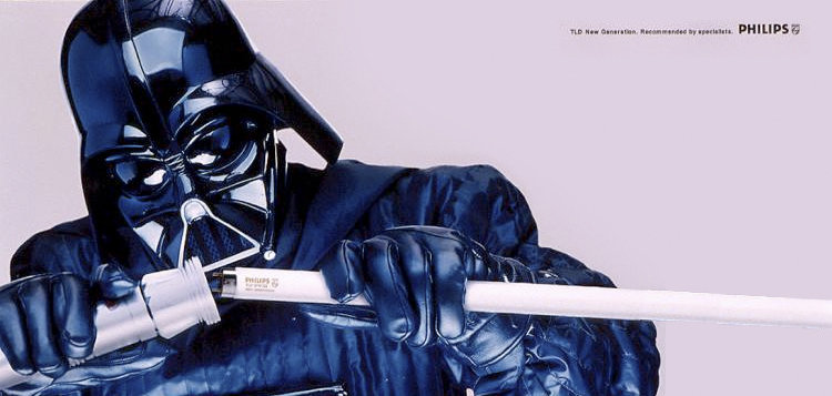 Web fotos del muro de harca marketing sostenible darth vader publicidad inspirada cine
