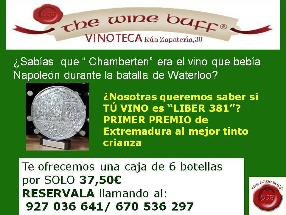 Web fotos del muro de the wine buff 6 bot liber