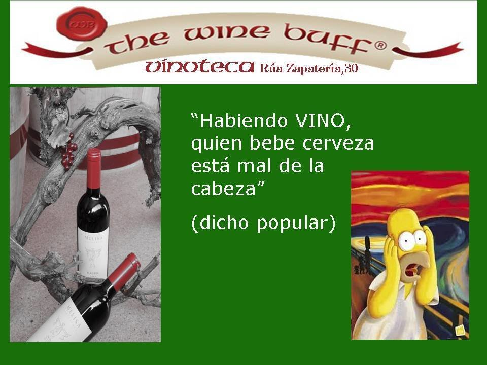 Web fotos del muro de the wine buff bebe vino no cerveza