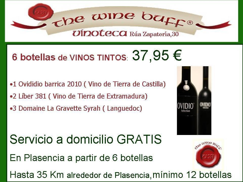 Web fotos del muro de the wine buff gratis en plasencia tintos