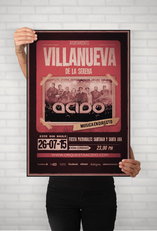 Web fotos del muro de orquesta acido villanueva cartel