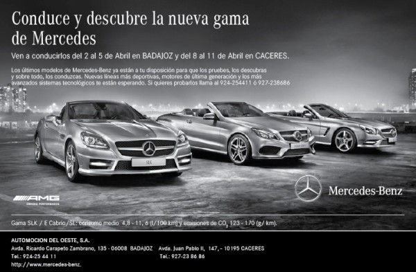 Experiencia caravana dream cars mercedes benz en badajoz