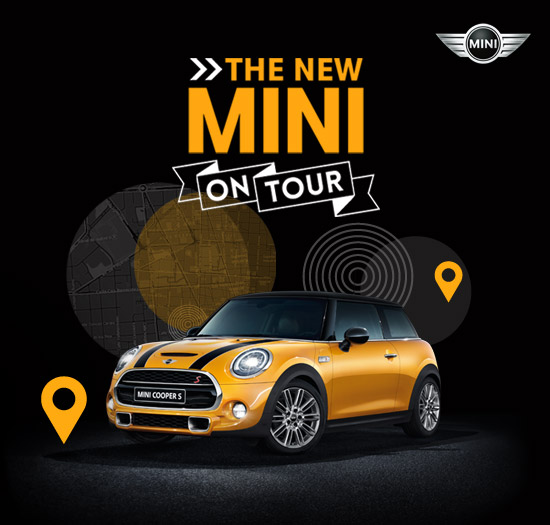 The new mini on tour en badajoz