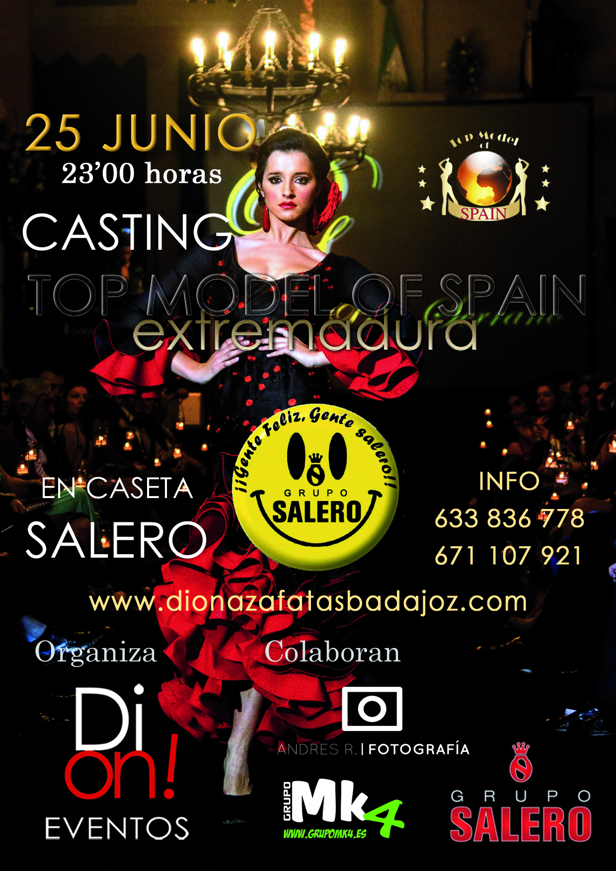 1er casting top model of spain 2016 extremadura