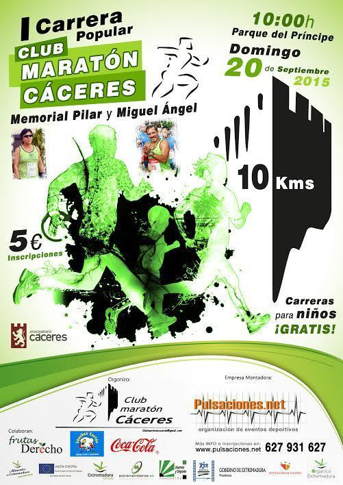 "I Carrera Popular ""Memorial Pilar y Miguel Ángel"" - Club Maratón Cáceres"