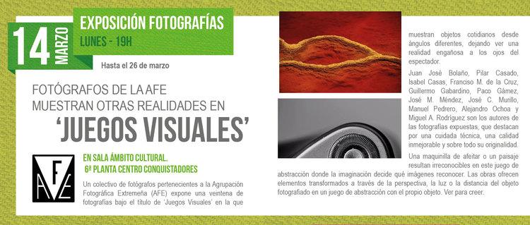 Exposicion Fotografica Juegos Visuales En Badajoz Exposicion En