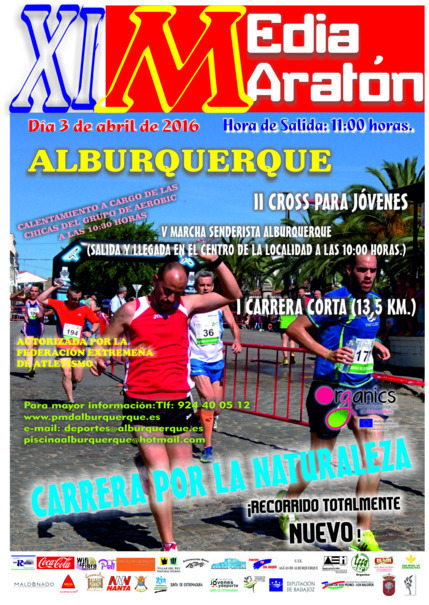Normal xi media maraton de alburquerque 2016