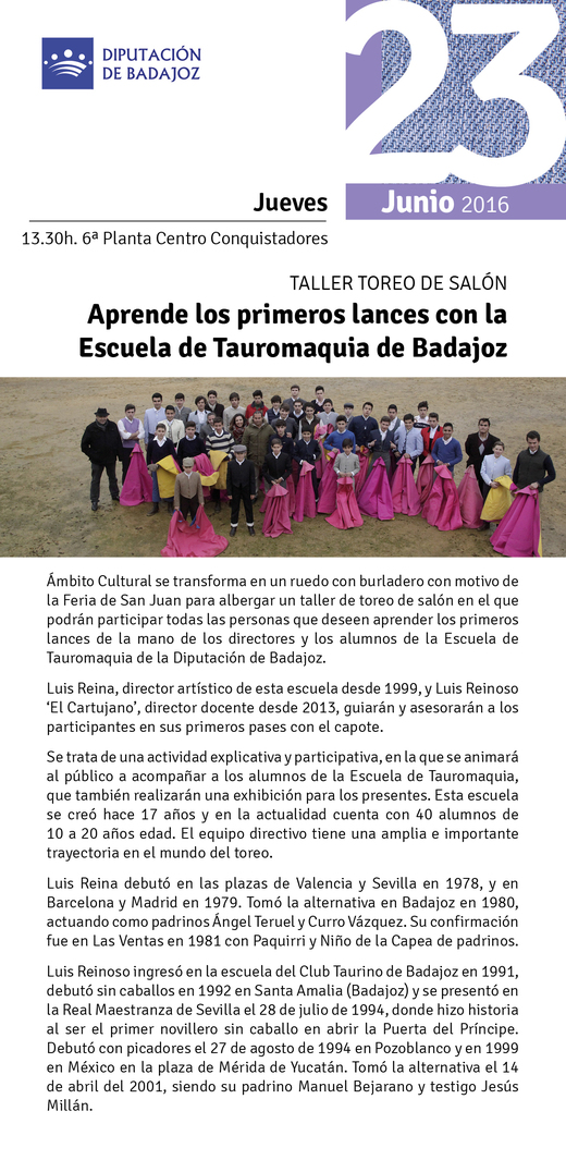 Normal taller toreo de salon en badajoz