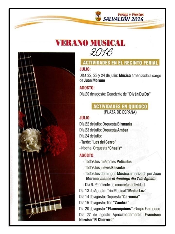 Normal verano musical en salvaleon