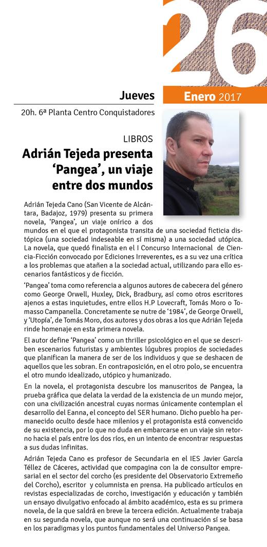 Normal Presentacion Pangea Un Viaje Entre Dos Mundos De Adrian Tejeda En Badajoz
