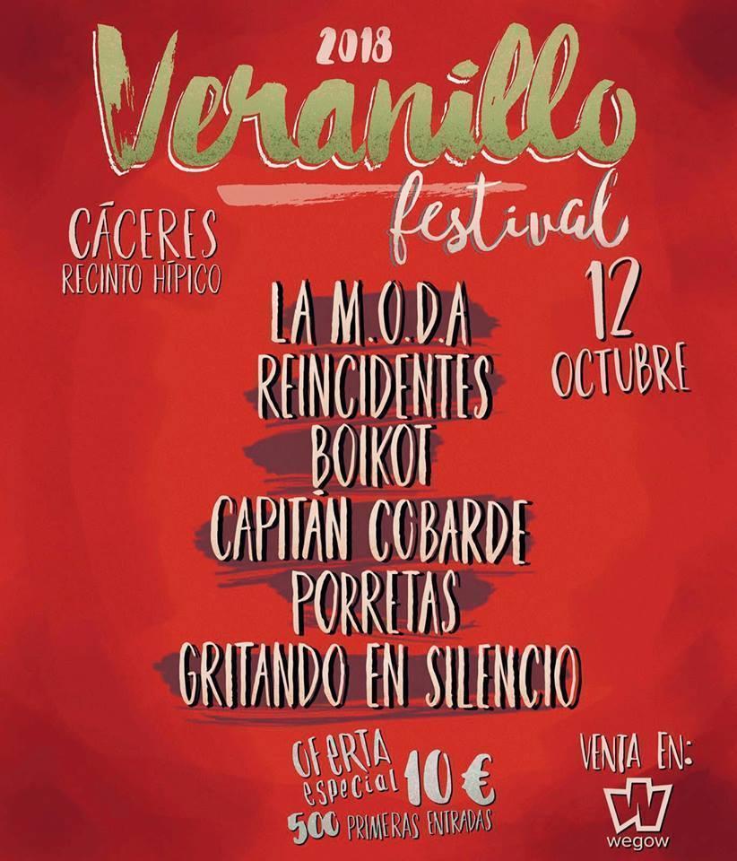 577f8e2e07c3 Veranillo Festival 2018 - Cáceres - Festival en Cáceres ...