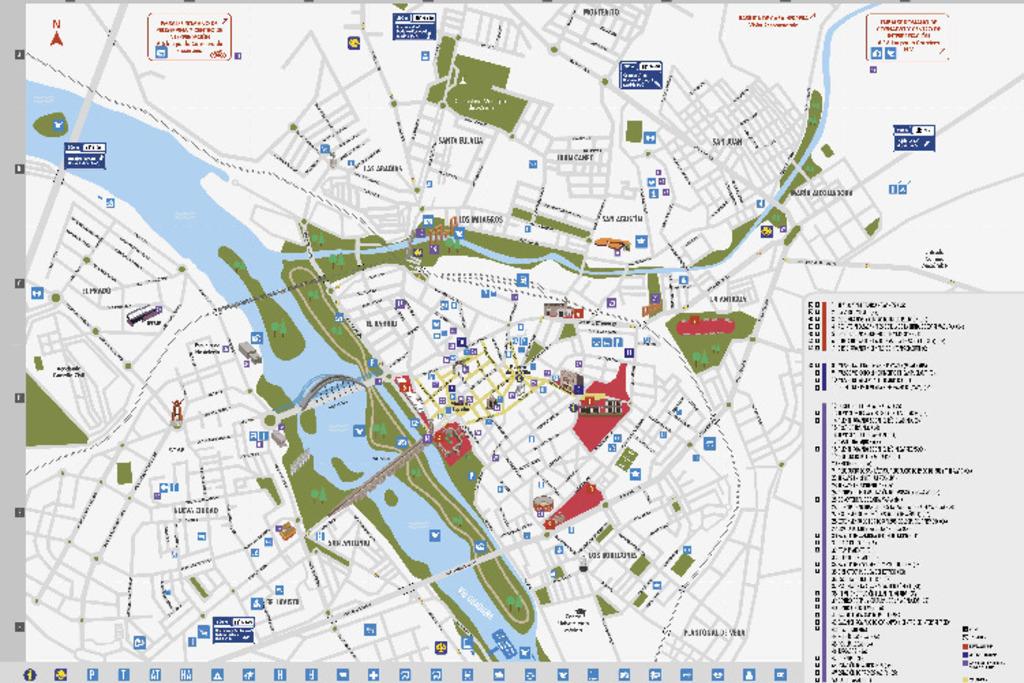 M rida ya dispone de nuevo mapa tur stico extremadura com for Oficina de turismo de caceres
