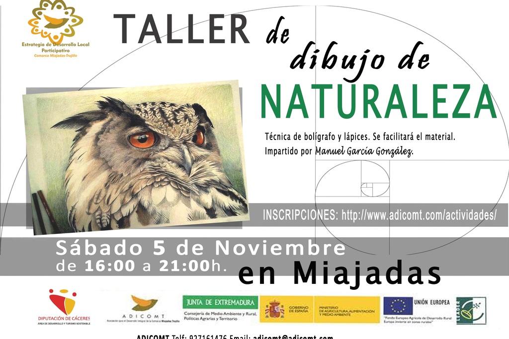 Talleres de dibujo de naturaleza en Miajadas y Trujillo