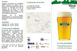Ii feria de la cerveza artesanal caceres beer triptico 1 caceres beer 2015 dam preview