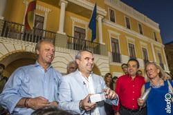 Inauguracion alumbrado de feria de san juan badajoz 2015 francisco javier fragoso alcalde de badajoz dam preview