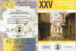 Xxv semana cultural del centro extremeno de mondragon portada y contraportada del programa de la sem dam preview