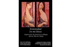 Feminidad en mi linea exposicion y performance badajoz cartel feminidad en mi linea ambito cultural  dam preview