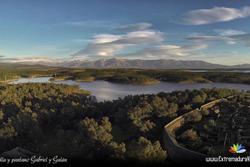Fotografia aerea granadilla trasierra tierras de granadilla dam preview