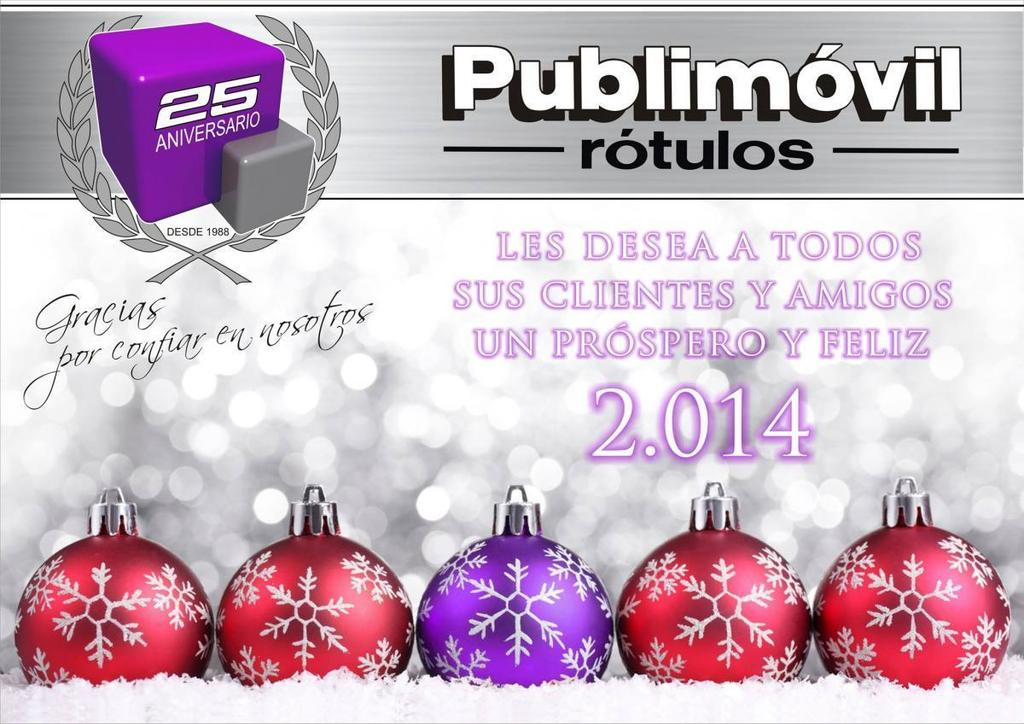 PUBLIMOVIL ROTULOS 2014 FELIZ 2014 desde PUBLIMOVIL ROTULOS