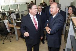 Gobex inauguracion de integracall el presidente del gobierno de extremadura jose antonio monago asis dam preview