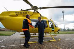 Gobex evaluacion aerea de inundaciones el presidente del gobierno de extremadura jose antonio monago dam preview