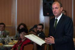 Gobex reunion con la aeef el presidente del gobierno de extremadura jose antonio monago participa en dam preview