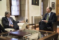 Gobex reunion con presidente de la cex el presidente del gobierno de extremadura jose antonio monago dam preview