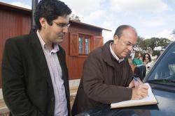 Gobex visita al gran lago alqueva el presidente del gobierno de extremadura y del embajador de espan dam preview