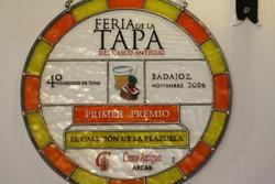 Premios primer premio feria de la tapa del casco antiguo de badajoz 2006 dam preview