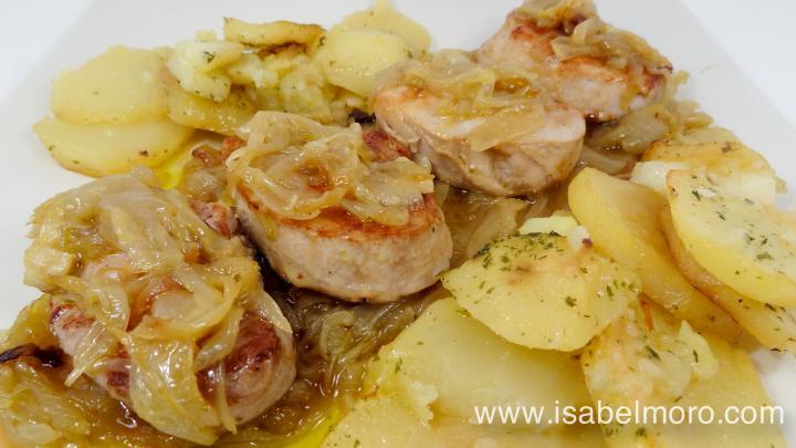 Solomillo de cerdo encebollado extremadura productos de - Como preparar un solomillo de cerdo al horno ...
