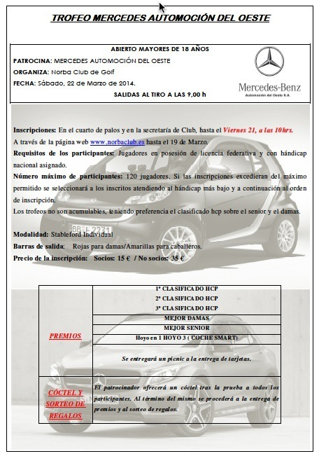 Normal trofeo de golf mercedes automocion del oeste
