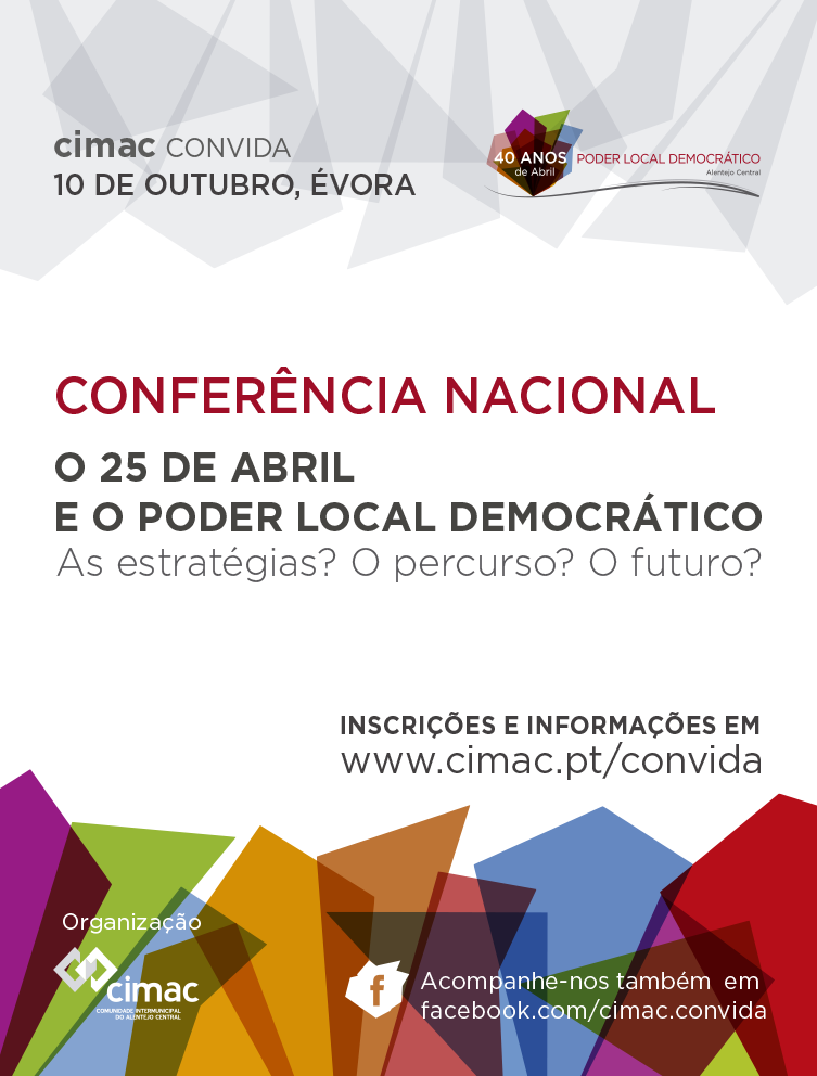 Normal conferencia o 25 de abril e o poder local democratico convida a reflexao sobre as quatro decadas de poder local
