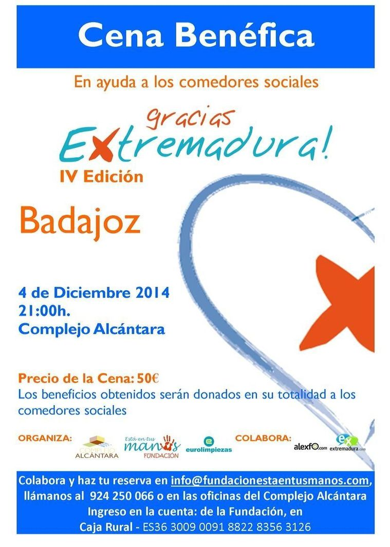 Normal iv cena benefica gracias extremadura 2014