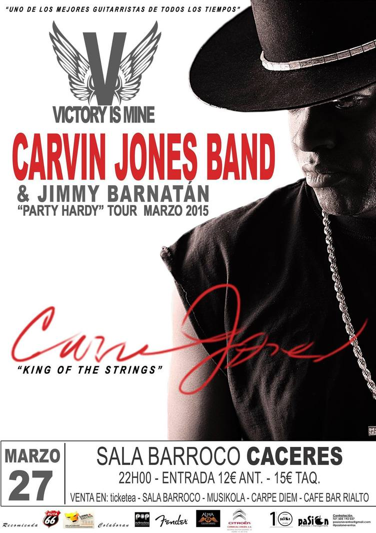 Normal carvin jones band jimmy barnatan en concierto caceres