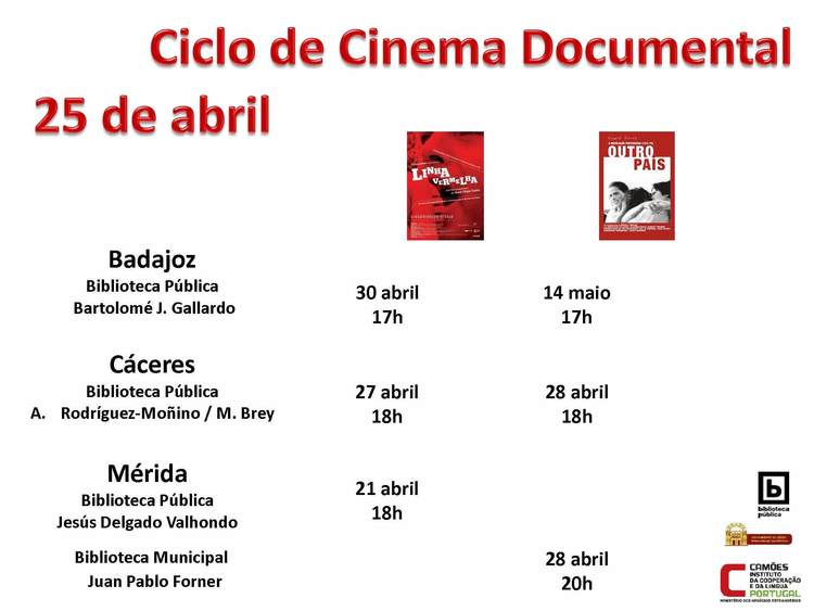 Normal ciclo de cinema documental 25 de abril merida