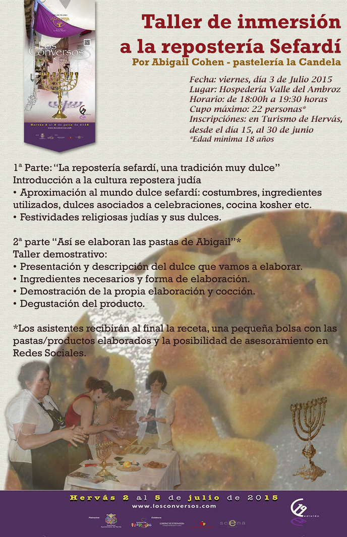 Normal taller de inmersion a la reposteria sefardi hervas