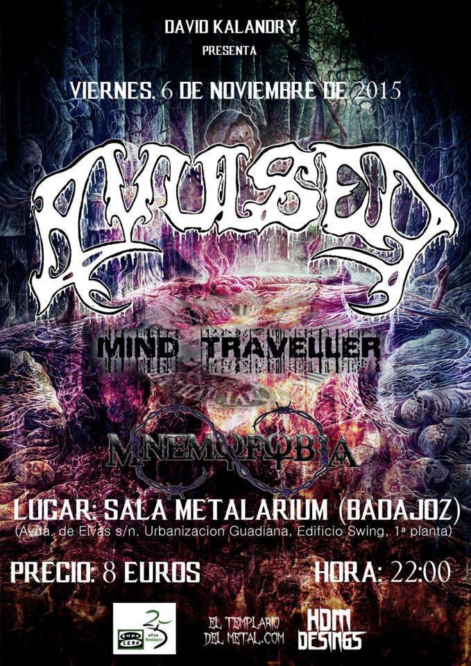 Normal concierto mnemofobia mind traveller avulsed sala metalarium badajoz