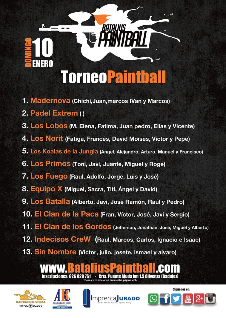 Normal i torneo de paintball karting olivenza olivenza
