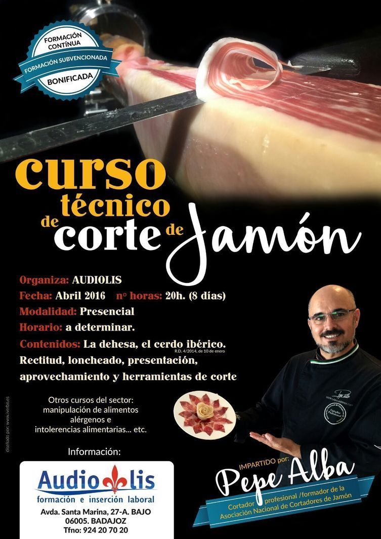 Normal abril 2016 curso corte de jamon audiolis pepe alba