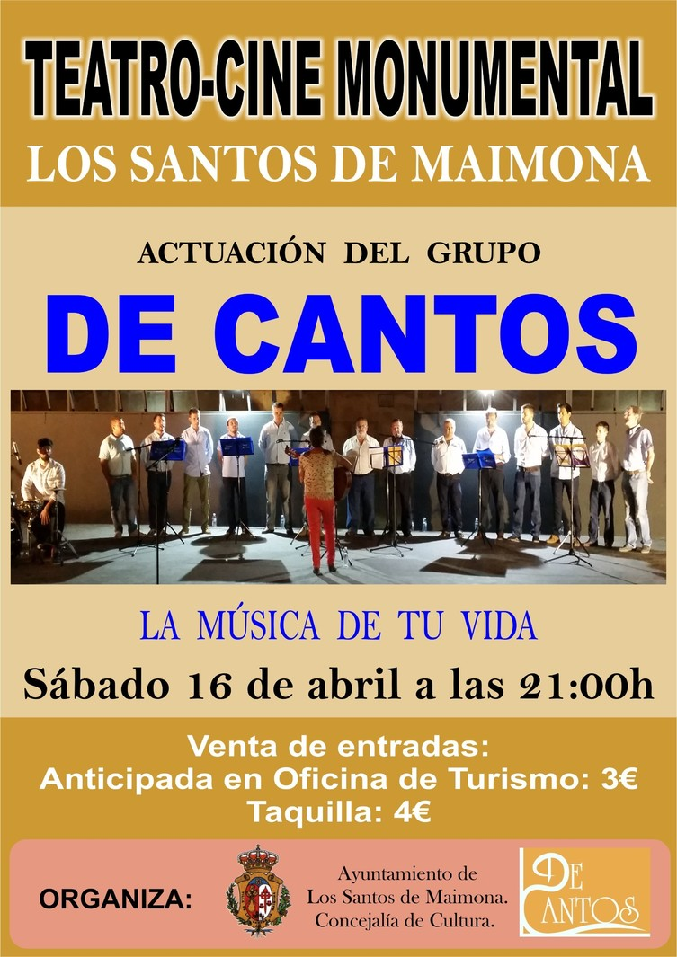Normal actuacion grupo musical de cantos