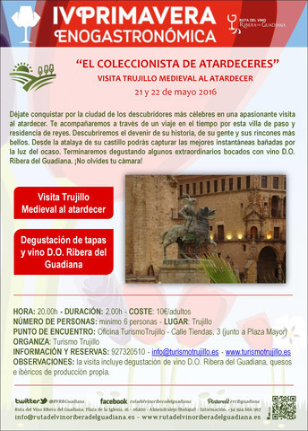 Visita trujillo medieval al atardecer experiencia en for Oficina turismo trujillo