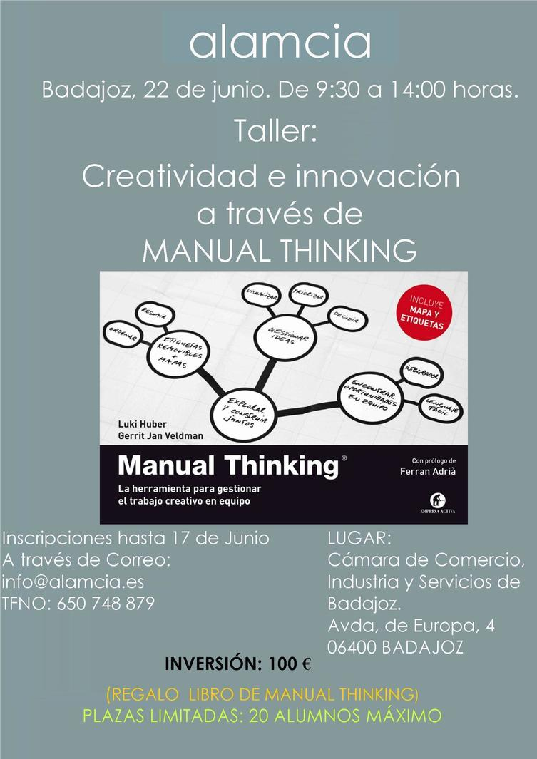 Normal taller de creatividad e innovacion a traves de manual thinking