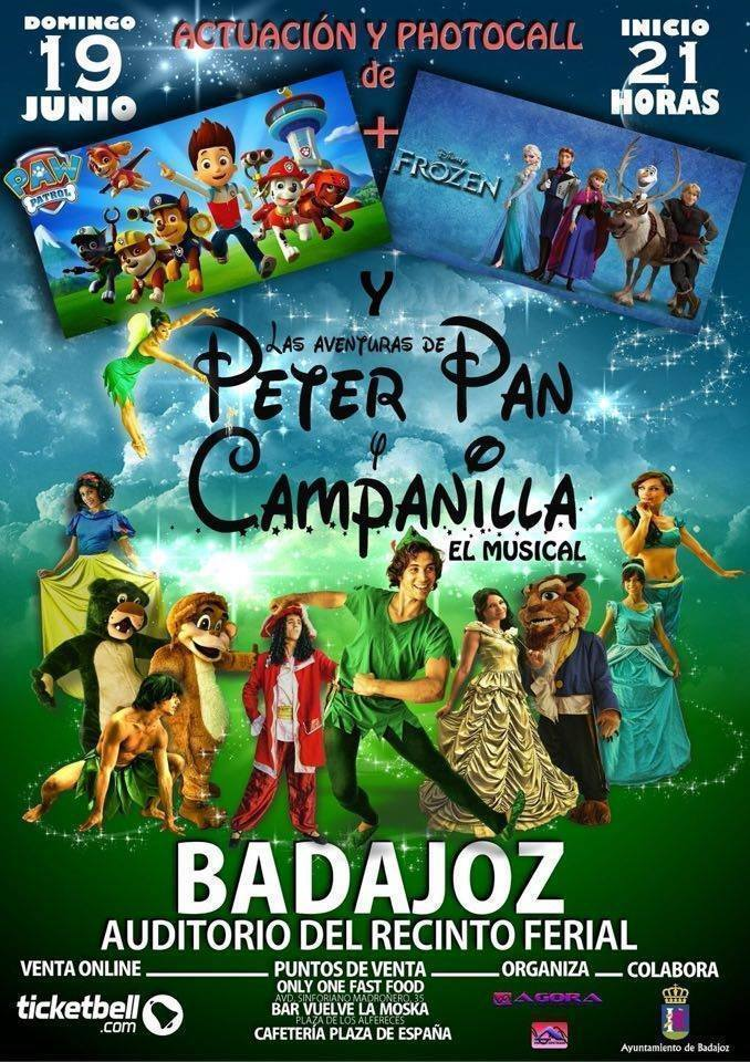 Normal musical peter pan y campanilla en badajoz