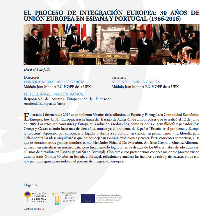 Normal curso el proceso de integracion europea campus yuste 2016