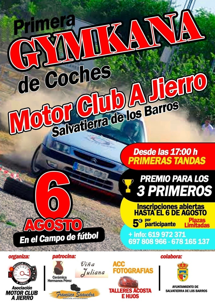 Normal gymkana de coches en salvatierra de los barros