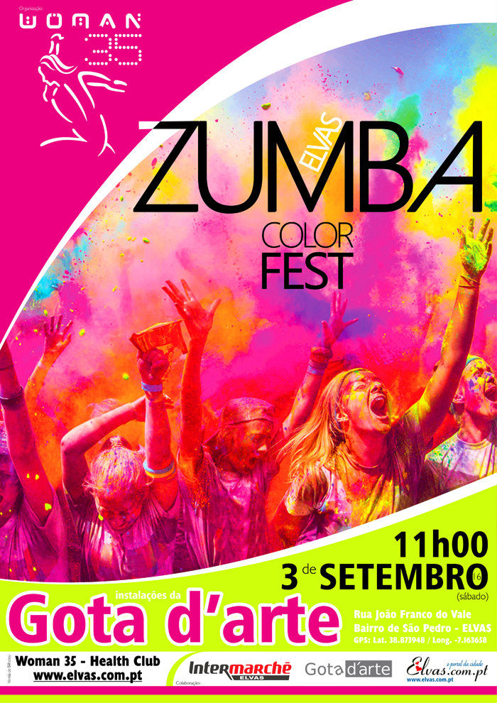 Normal zumba color fest