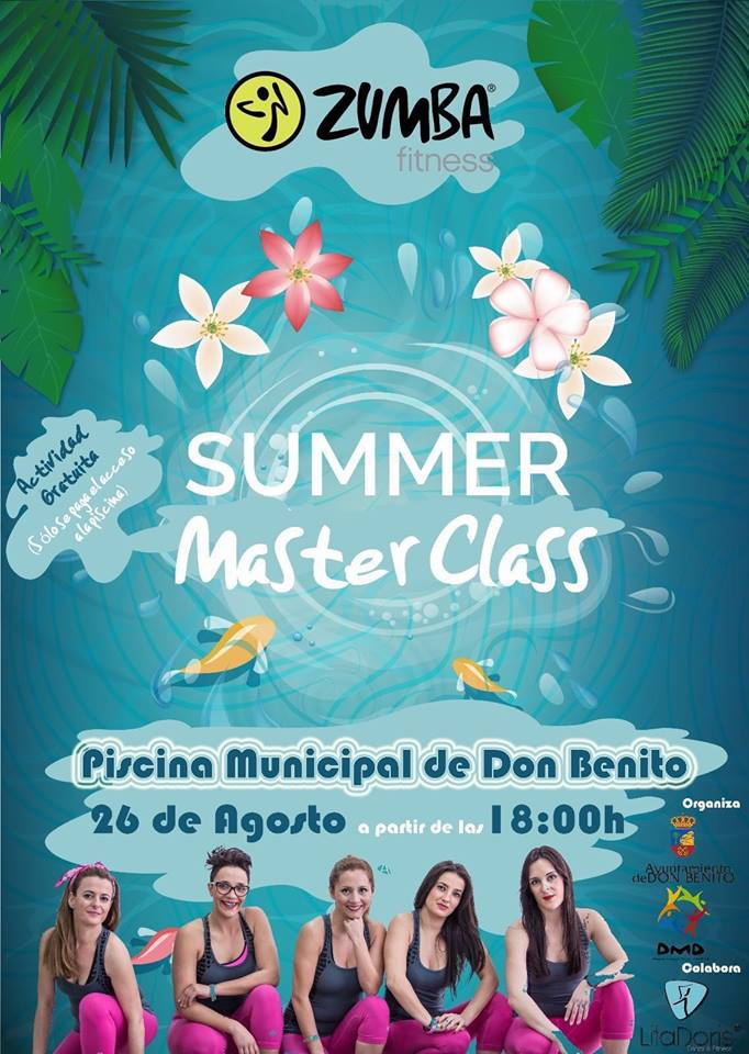 Zumba summer master class en don benito deporte en don for Piscina don benito