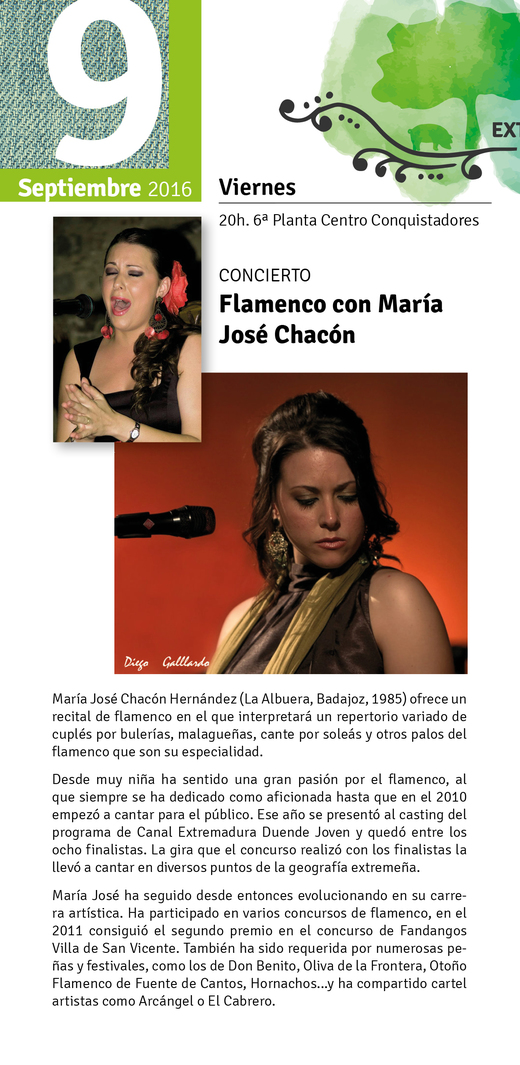 Normal concierto flamenco con maria jose chacon en badajoz